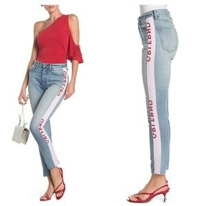 Grlfrnd Karolina Tape Detail High Rise Skinny Jean